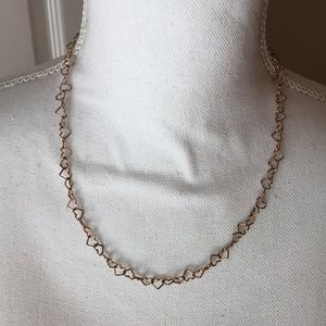 Jewelry - Rose gold heart necklace